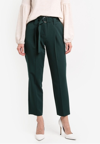 Dorothy Perkins green D-Ring Tapered Trousers DO816AA0SRDEMY_1