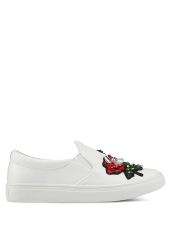 addicts anonymous white Lily Bug And Flower Slip Ons AD479SH0SVKUMY_1