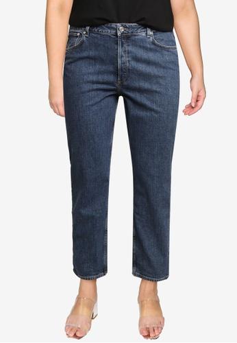 Violeta by MANGO blue Plus Size Ankle-Length Straight-Fit Jeans 630D3AA01AB344GS_1