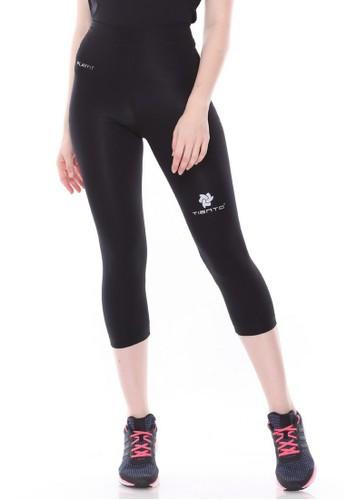 Jual Tiento Tiento Women Compression 3 4 Pants Black Silver Celana Legging Leging Lejing Sebetis Wanita Olahraga Yoga Zumba Senam Lari Running Voli Original Zalora Indonesia