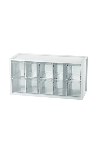 MakeRoom white Middle Plastic Desktop Storage With 10 Drawers AB8DCHLB151EF2GS_1
