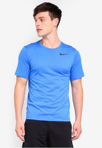 Nike blue As M Nk Brt Short Sleeve Vent Top EF127AAE85AA72GS_1