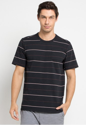 hurley black and multi Dri-Fit Straya Stripe Top T-Shirt 34C51AA26591A7GS_1