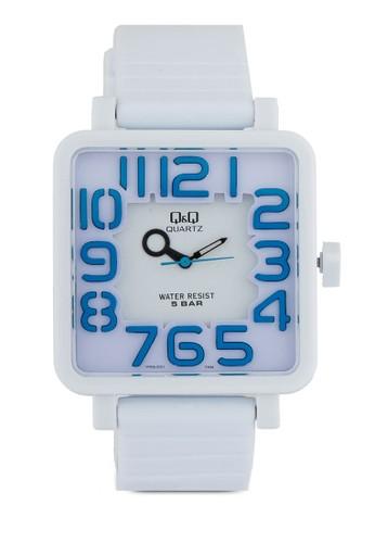 VR06J001Y zalora 折扣碼方框數字手錶, 錶類, 其它錶帶