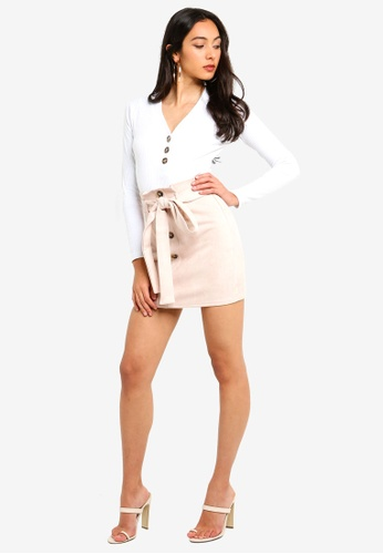 5ec19cd2b7 Shop MISSGUIDED Faux Suede Paperbag Waist Mini Skirt Online on ZALORA  Philippines