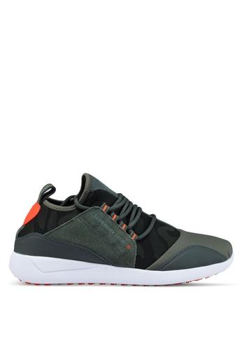 Superdry green Superdry Superlite Runner Sneakers 27F4ESHAEB4930GS_1