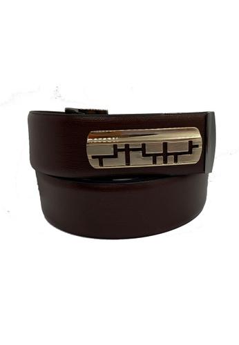 Oxhide 褐色 设计师皮带独家设计的皮带扣-优质皮革-商务晚装设计师服装-LUX05棕色皮带-牛皮 93F22AC9D87EA7GS_1