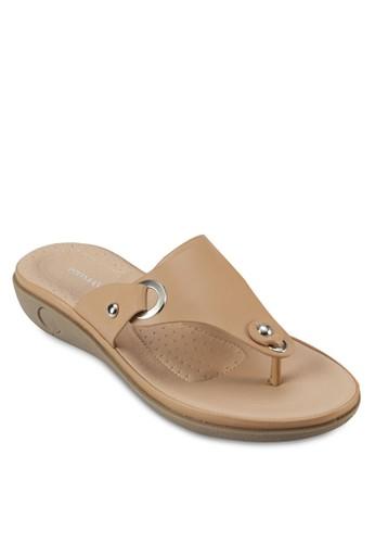 BOLINI 金屬孔鉚釘涼鞋,esprit香港門市 女鞋, 鞋