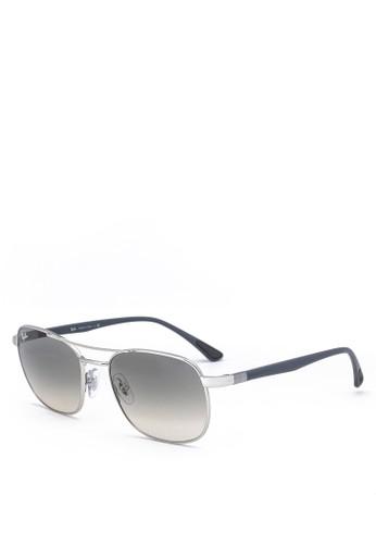 Ray-Ban silver Steel Sunglasses F5D46GL0904BD6GS_1