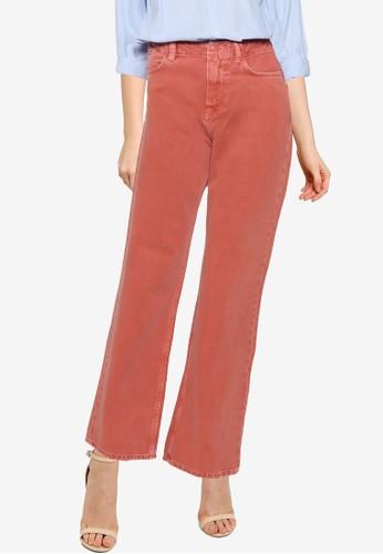 Mango red Wide Leg High Waist Jeans 5B90EAA7739B37GS_1