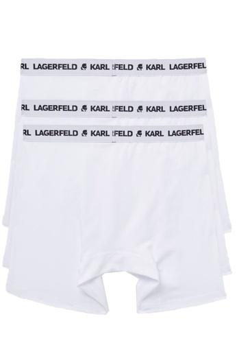 KARL LAGERFELD white LOGO BOXERS SET (PACK OF 3) D3A2EUS152DD62GS_1
