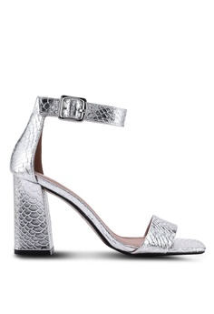 7db5767acecc TOPSHOP silver Suki Black Heel Sandals 0FFB9SH6F26A94GS 1