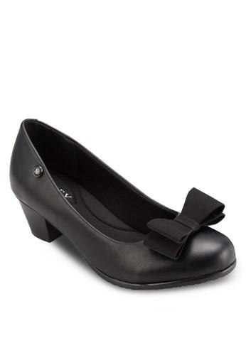 esprit香港分店蝴蝶結粗跟鞋, 女鞋, 厚底高跟鞋