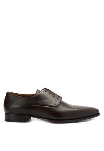 A. Testoni brown Men's Casual Dress Shoes Longwing Brougues AT299SH0K4C1PH_1