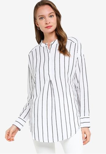 Banana Republic white Linen-Cotton Tunic 7D564AA25897D0GS_1