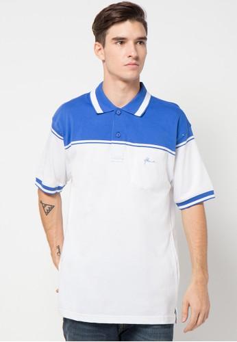 Hassenda white and blue Short Sleeve HA130AA10LEBID_1
