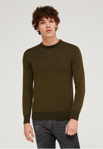 Sisley green Vanisé Look Crew Neck Sweater CEA04AA0B4A058GS_1