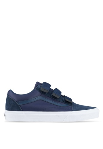VANS blue Old Skool V Surplus Nylon Sneakers VA142SH0SWNJMY_1