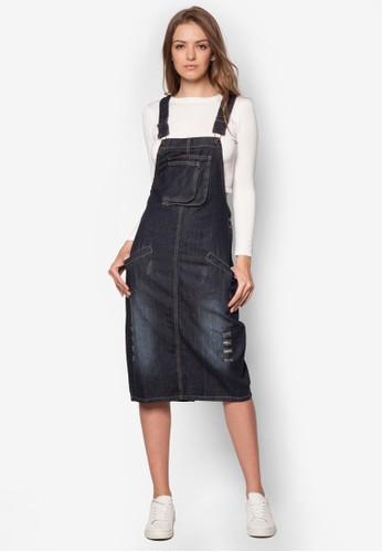 丹zalora時尚購物網評價寧吊帶連身裙, 服飾, 洋裝