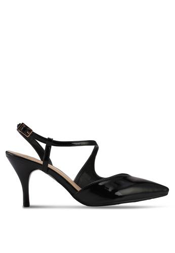 DMK black Swirly Pointed Pump Heels EAD19SHD1C865FGS_1