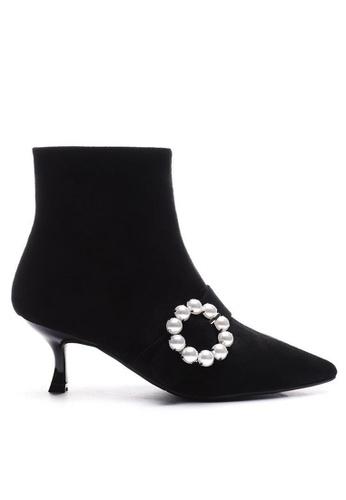 Twenty Eight Shoes 猄布珍珠踝靴1902-1 3AAABSH2324895GS_1