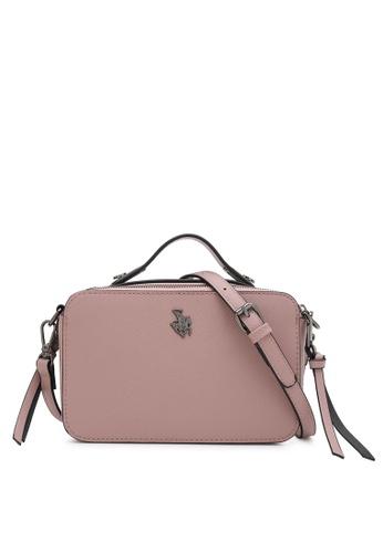 Swiss Polo pink Rectangle Top Handle Sling Bag ABADDAC92E5447GS_1