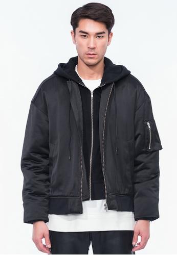 Alpha Style black Justin Combined Jacket AL461AA0H8Z4SG_1