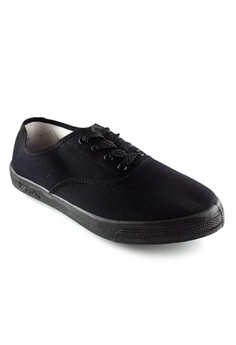 All Black Basic Sneakers for Men