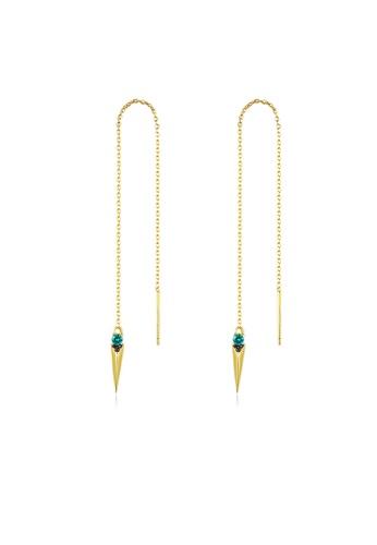 SUNRAIS gold Premium Silver S925 gold drop earrings 76496AC3F99F84GS_1