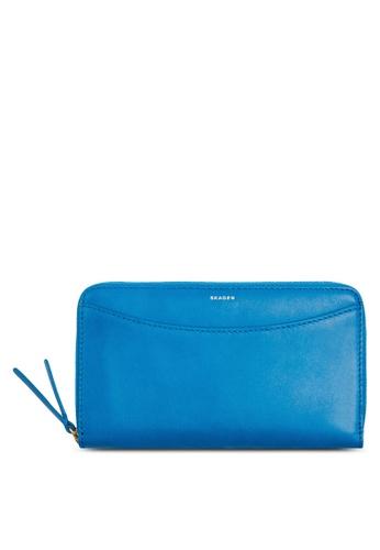Skagen blue Skagen Compact Leather Zip Wallet SWS0229433 SK533AC43CGEMY_1
