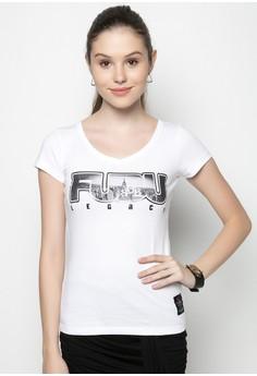 Girls V-neck T-shirt