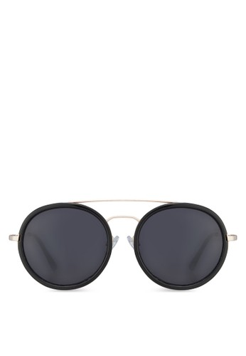 Drilisien 圓框太陽眼鏡, 飾品配zalora 內衣件, 圓框