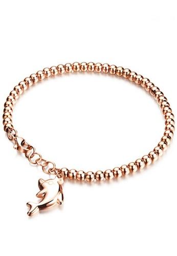 Trendy Gold Dolphin Bracelet Tr116ac98zcfhk 1