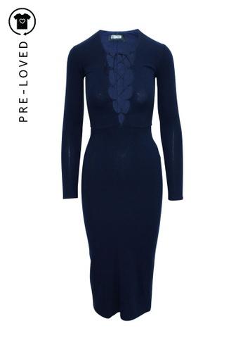 Reformation blue reformation Slim Fit Navy Blue Dress 76DB7AA047B721GS_1
