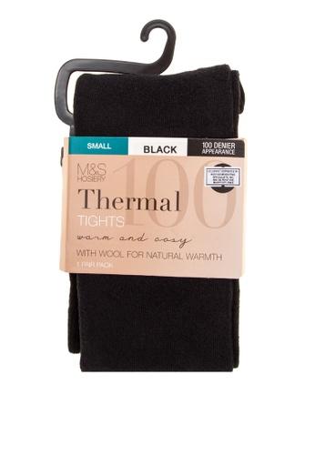 MARKS & SPENCER black 100 Denier Thermal Tights 65BBEAAB7A3F42GS_1