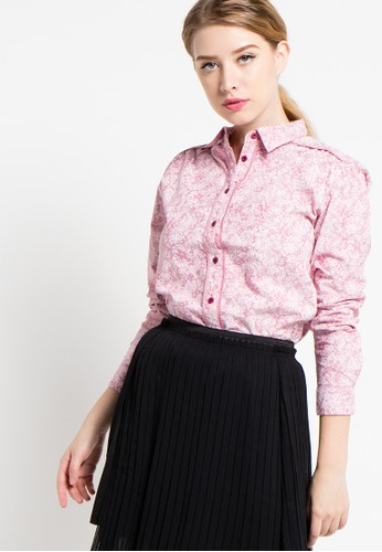 EDITION pink Contrast Piped Blouse ED101AA33DUSID_1