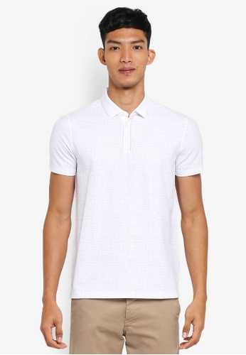 56ce07550356 Buy G2000 Irregular Line Print Polo Shirt Online on ZALORA Singapore