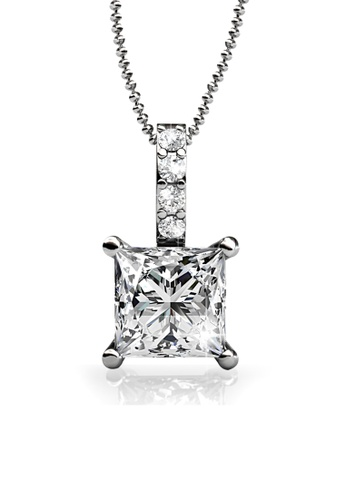 Her Jewellery silver Trust Pendant - Made with Premium grade crystals from Austria 3B164AC8031B40GS_1