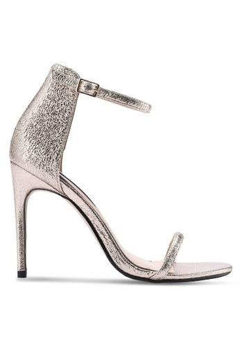 Miss Selfridge gold Chessi Metallic Barely There Sandals MI665SH60EBNMY_1