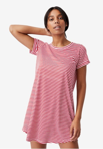 Cotton On red Tina Tshirt Dress 11F77AAB436B01GS_1