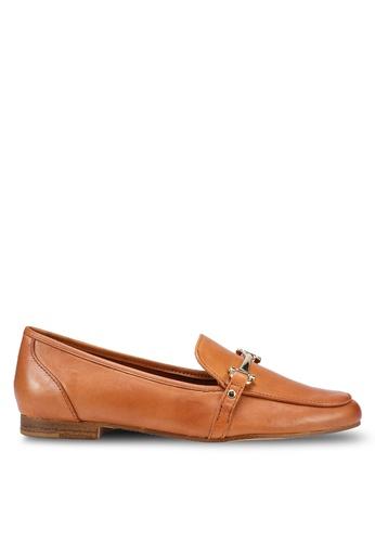 ALDO 褐色 金屬飾懶人樂福鞋 73FDCSH303815CGS_1