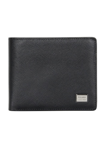 Picard black Picard Saffiano Men's Leather Bifold Wallet with Card Window 05136AC2607111GS_1