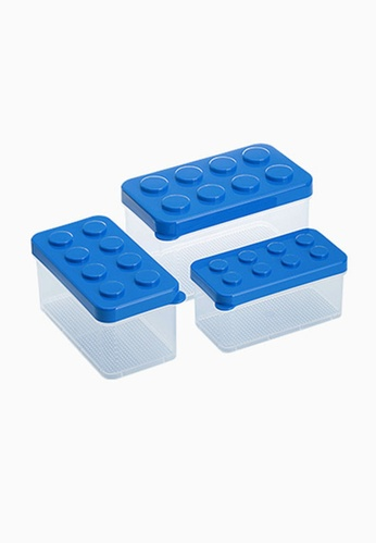 SIMPLY MODULAR blue Shimoyama Lego Box Set of 3 ED23BHL949013EGS_1