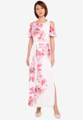 Wallis white Petite White Floral Print Maxi Dress 4BBDBAA7B26C2EGS_1