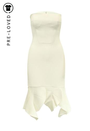 Christopher Kane beige Pre-Loved christopher esber Cream Sleeveless Dress F3361AAD8F5278GS_1