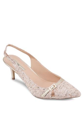 格紋尖頭踝zalora 男鞋 評價帶高跟鞋, 女鞋, 厚底高跟鞋