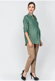 2ed8638cc46 9months Maternity Green Zip Front Nursing Shirt RM 169.00. Sizes S M L XL  XXL