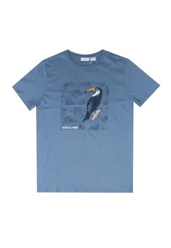 MANGO KIDS blue Boats Printed Cotton T-Shirt 38A7DKA52D479CGS_1