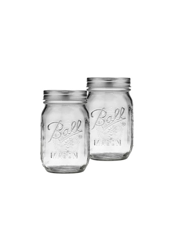 Propstation Mason Drinking and Storage Glass Jars with Steel Lid - Set of 2 2E4C1HL31CADD2GS_1