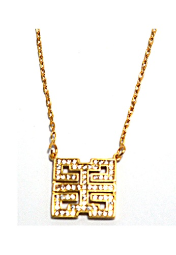 Jewelplace gold Tiffany Maze  Inspired Cubic Zircon Pendant Necklace JE882AC99KUEPH_1